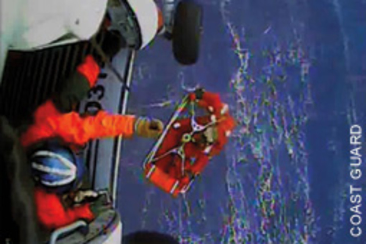 The Coast Guard rescued 14 of the ship's crewmembers.