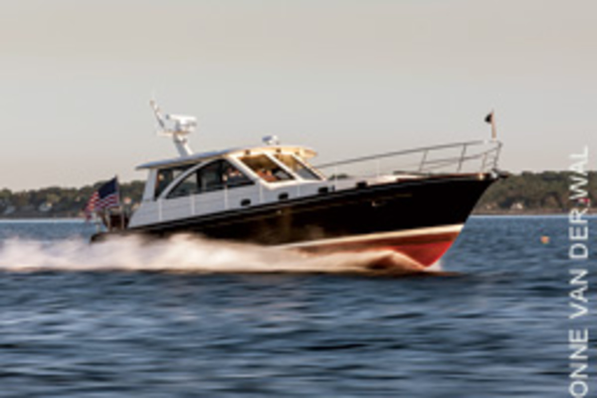 The Hunt 44 is a fine example of the Down East express cruiser.