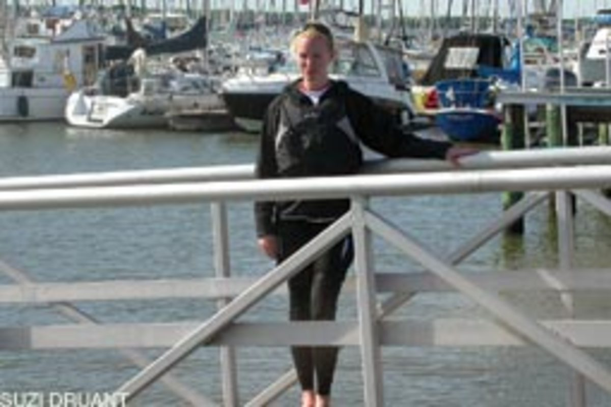 Katie Burns, 25, says she was lost after returning from a stint in Iraq. Sailing helped refocus her competitive drive.