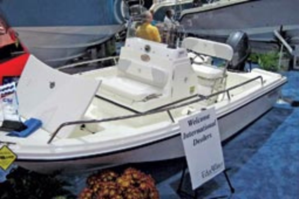 EdgeWater Power Boats introduced a line of smaller bay boats.