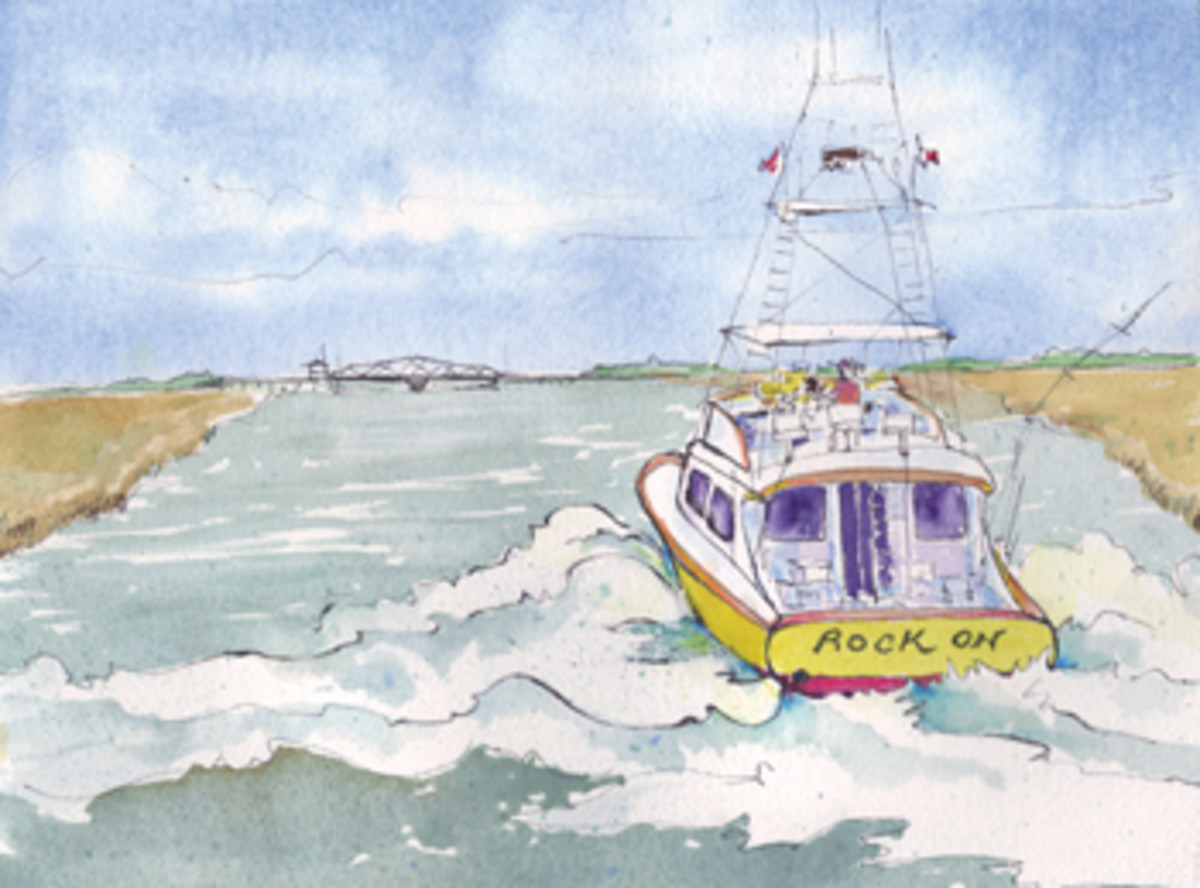 What fate awaited the sportfish skipper at the bridge?