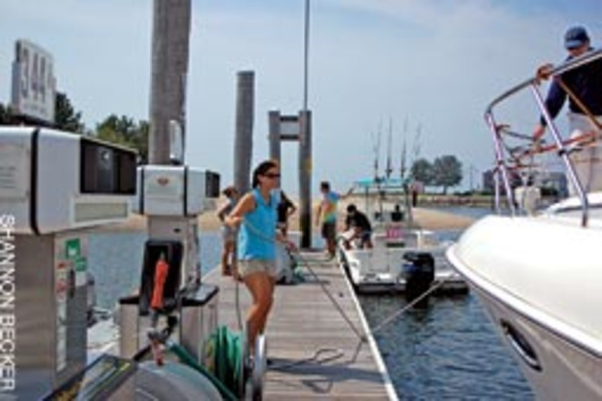 Positive first impressions are a priority at the fuel dock at Brewer Pilots Point Marina.