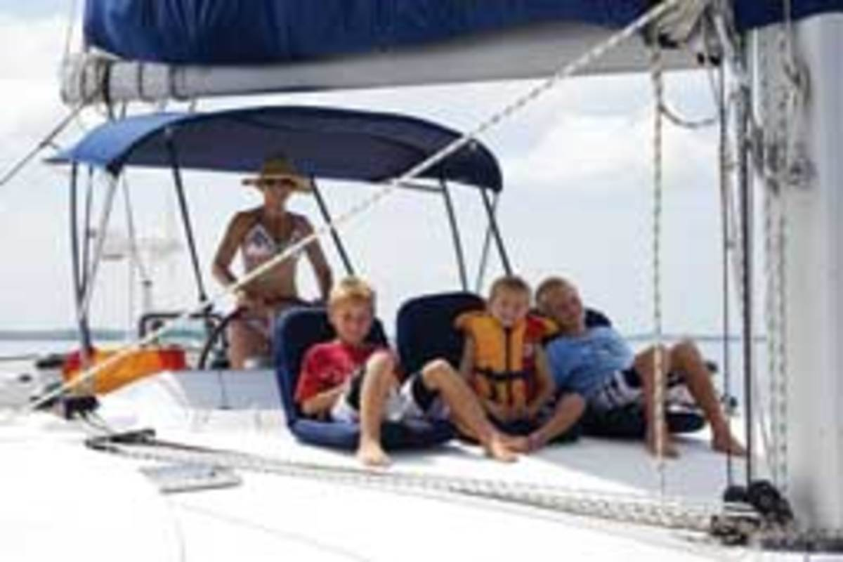The Leonard family is trading life on land for life on board their 50-foot Lagoon catamaran.