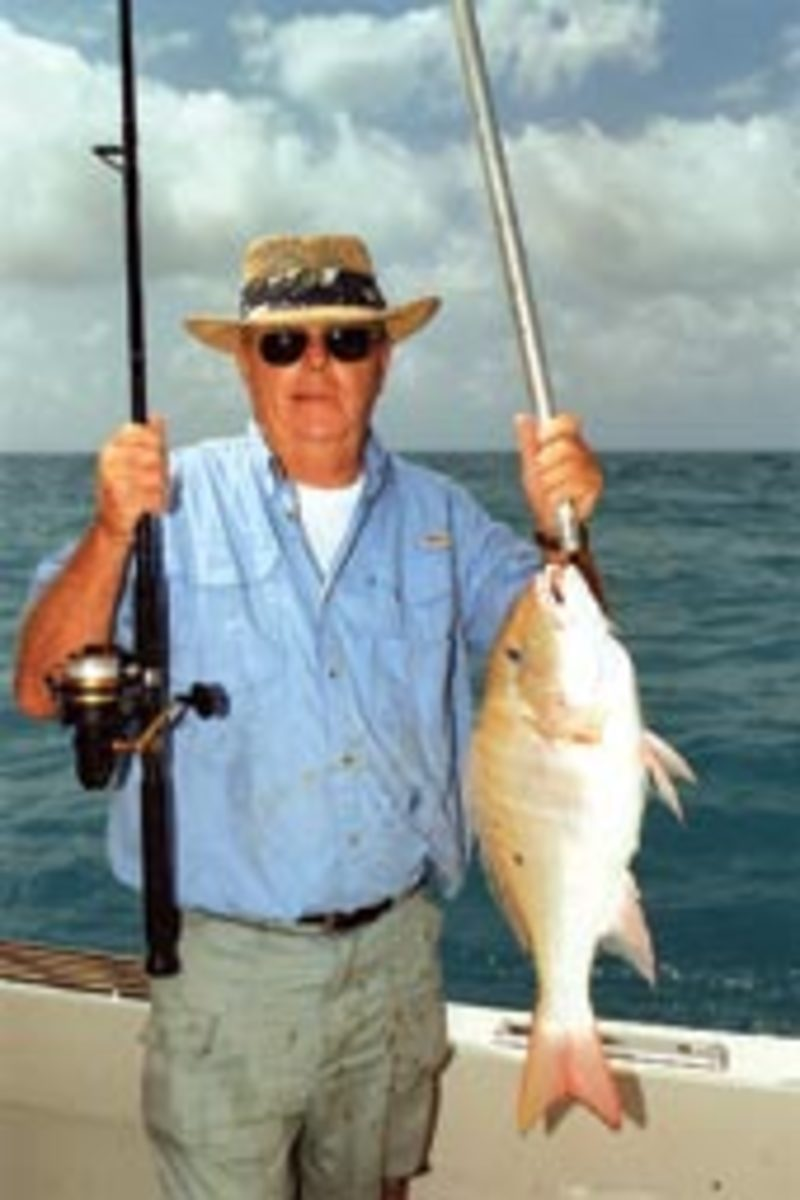 Muttons can be caught on all manner of tackle, but are a ball on light rods. These fish live on softer bottom than grouper and run over the bottom, not into it like groupers.