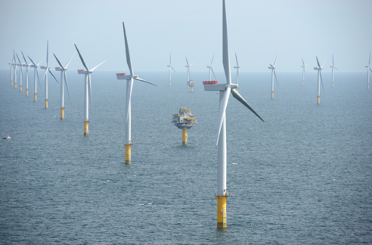 Britain's Sheringham Shoal offshore wind farm consists of 88 turbines over a total area of approximately 14 square miles.