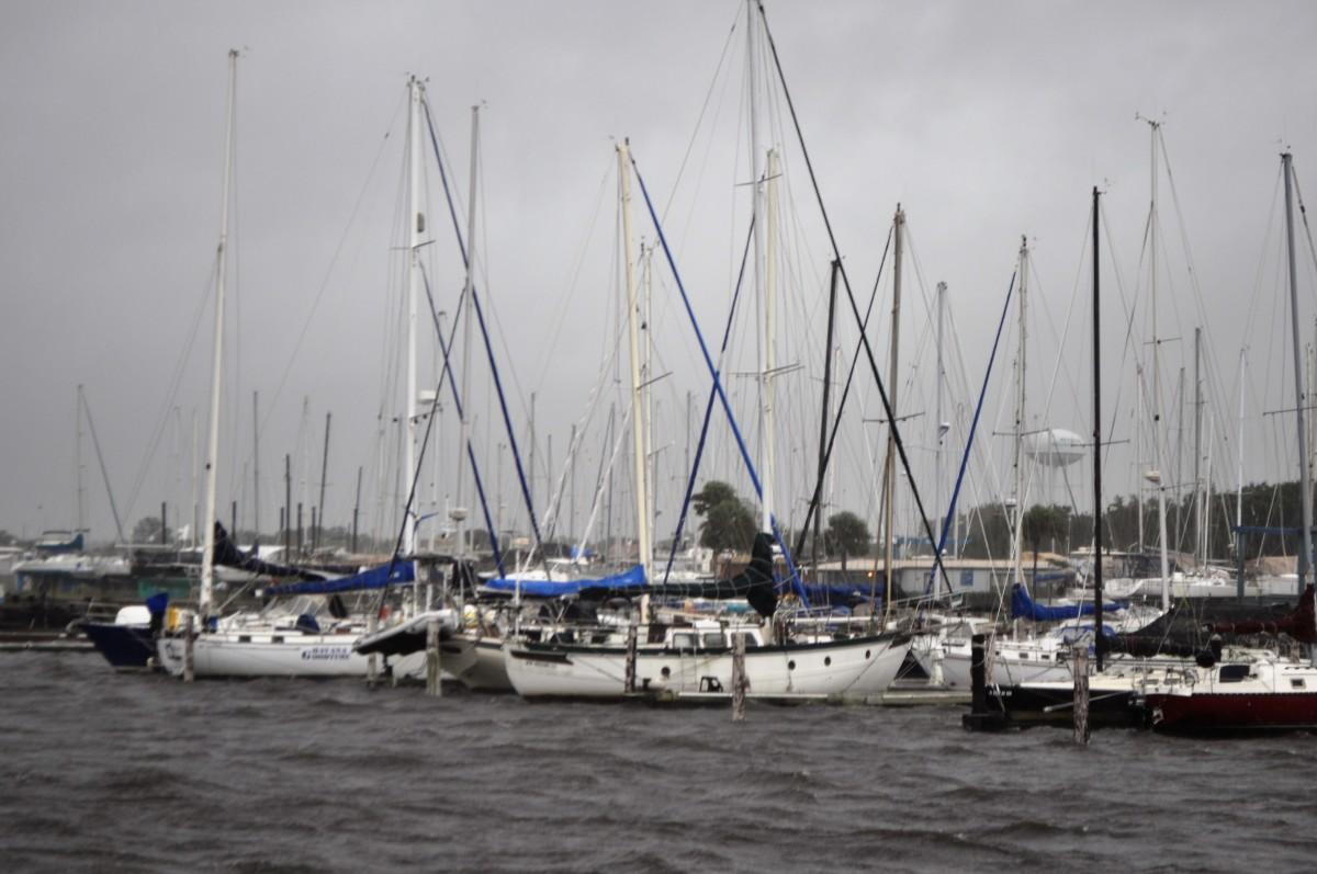 Reynolds Yacht Center and Jacksonville Craft Sheltering Upriver On St. Johns.
