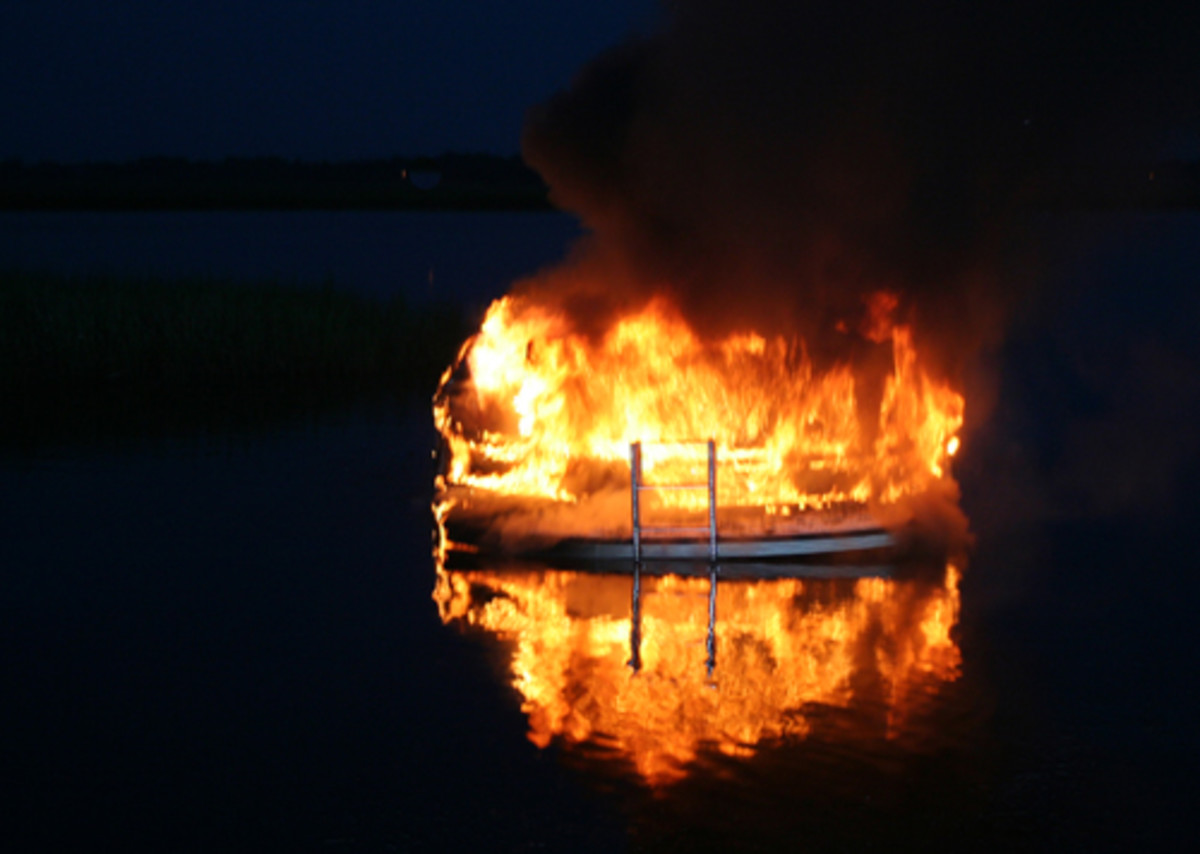 The Great Harbour 37 Premium Time was set ablaze on the St. Marys River last August.