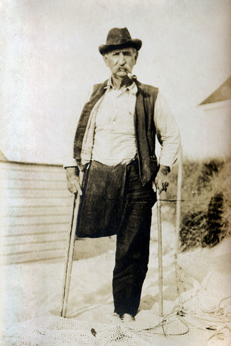 """William Sisson, the """"Older,"""" portrait of a Swamp Yankee."""