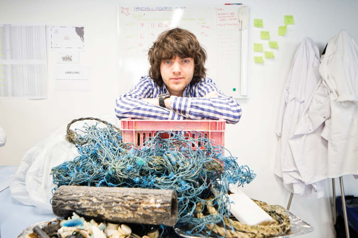 Boyan Slat became passionate about ocean cleanup at 16, when he saw plastic bags in the water while diving in Greece.