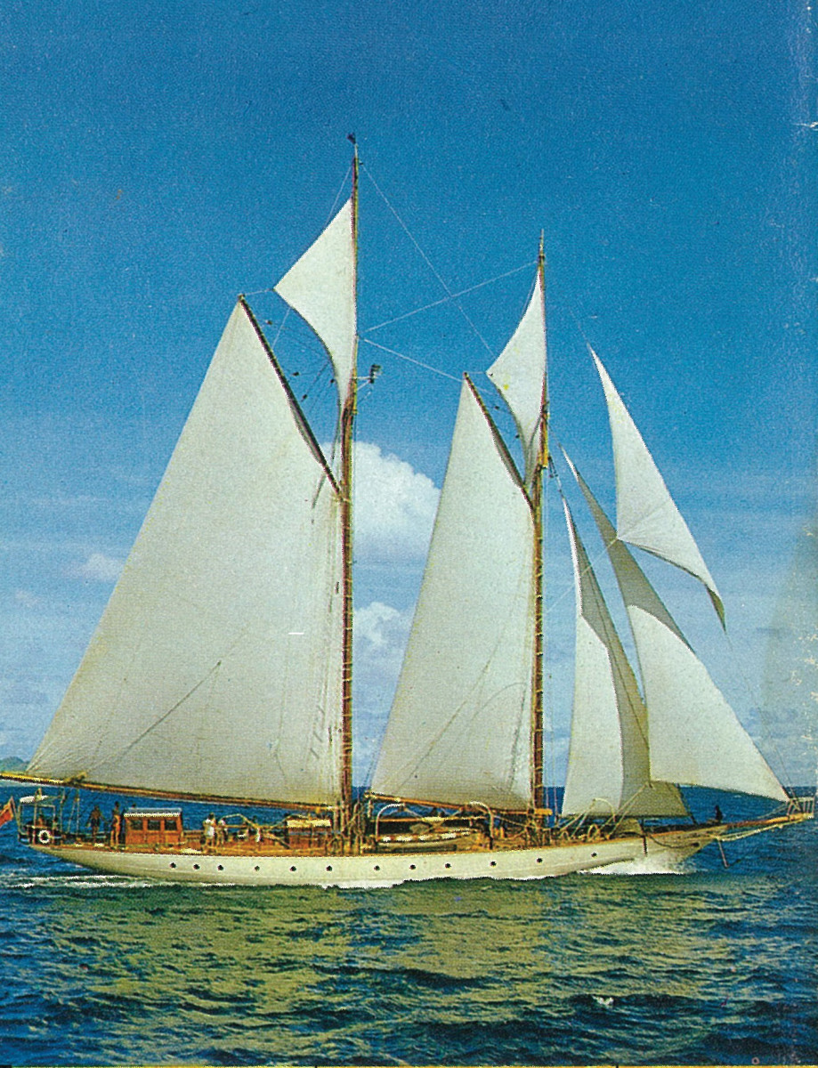 Ramona was a 138-foot schooner owned and operated by the writer's father in the Caribbean.
