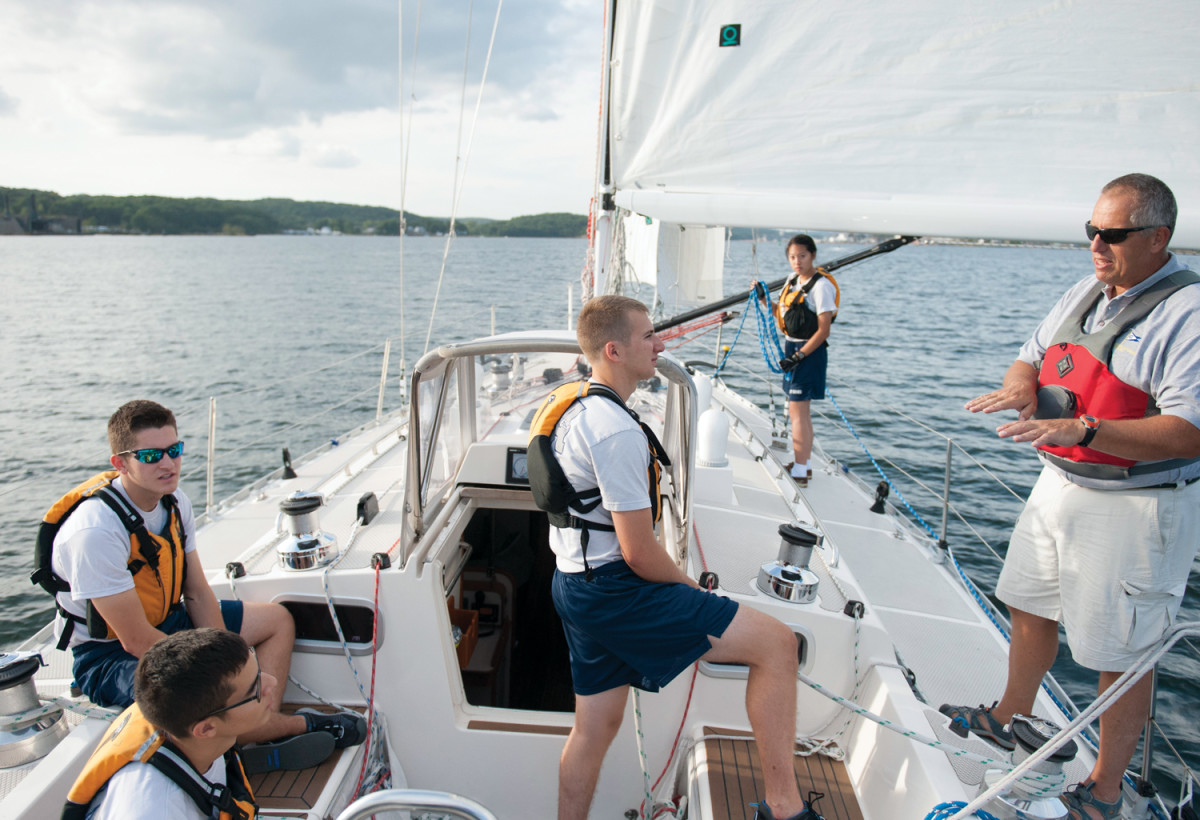 The skipper and crew must work together, whether racing or spending an afternoon on the water.