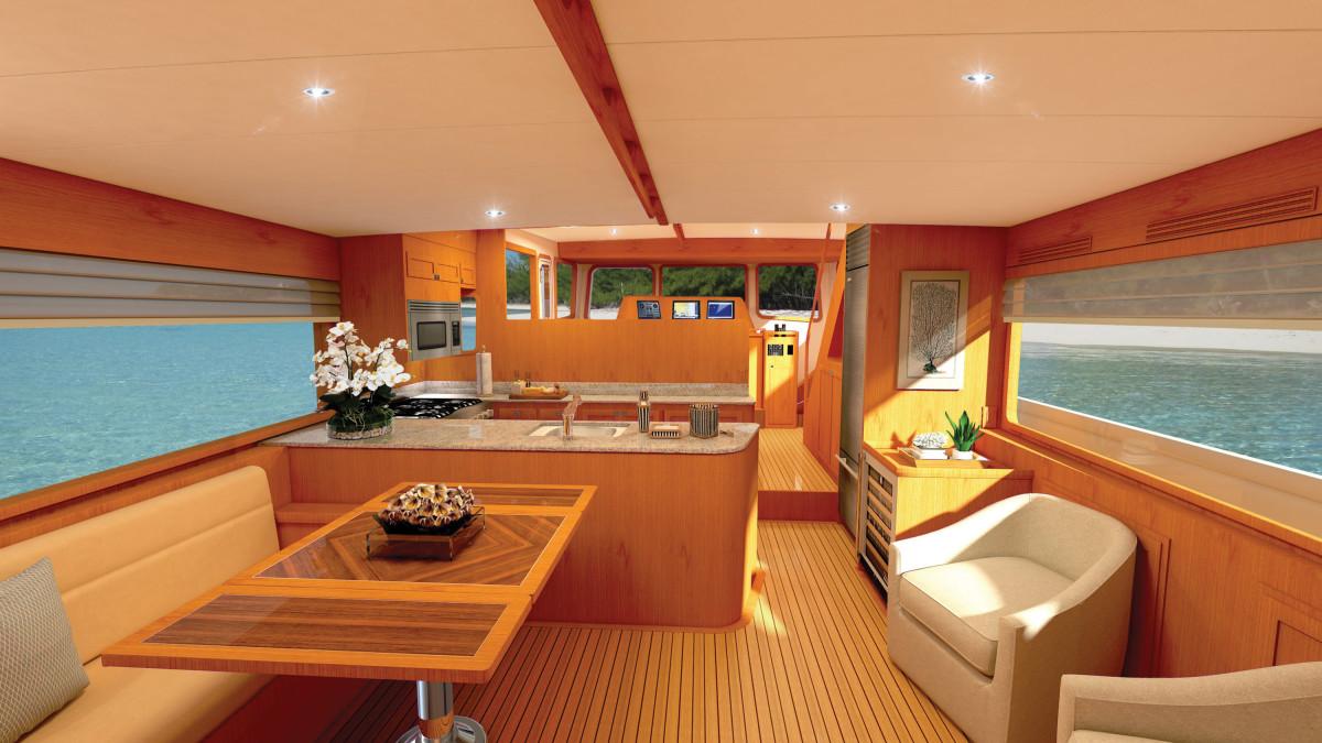 Krogen 50 Open Interior