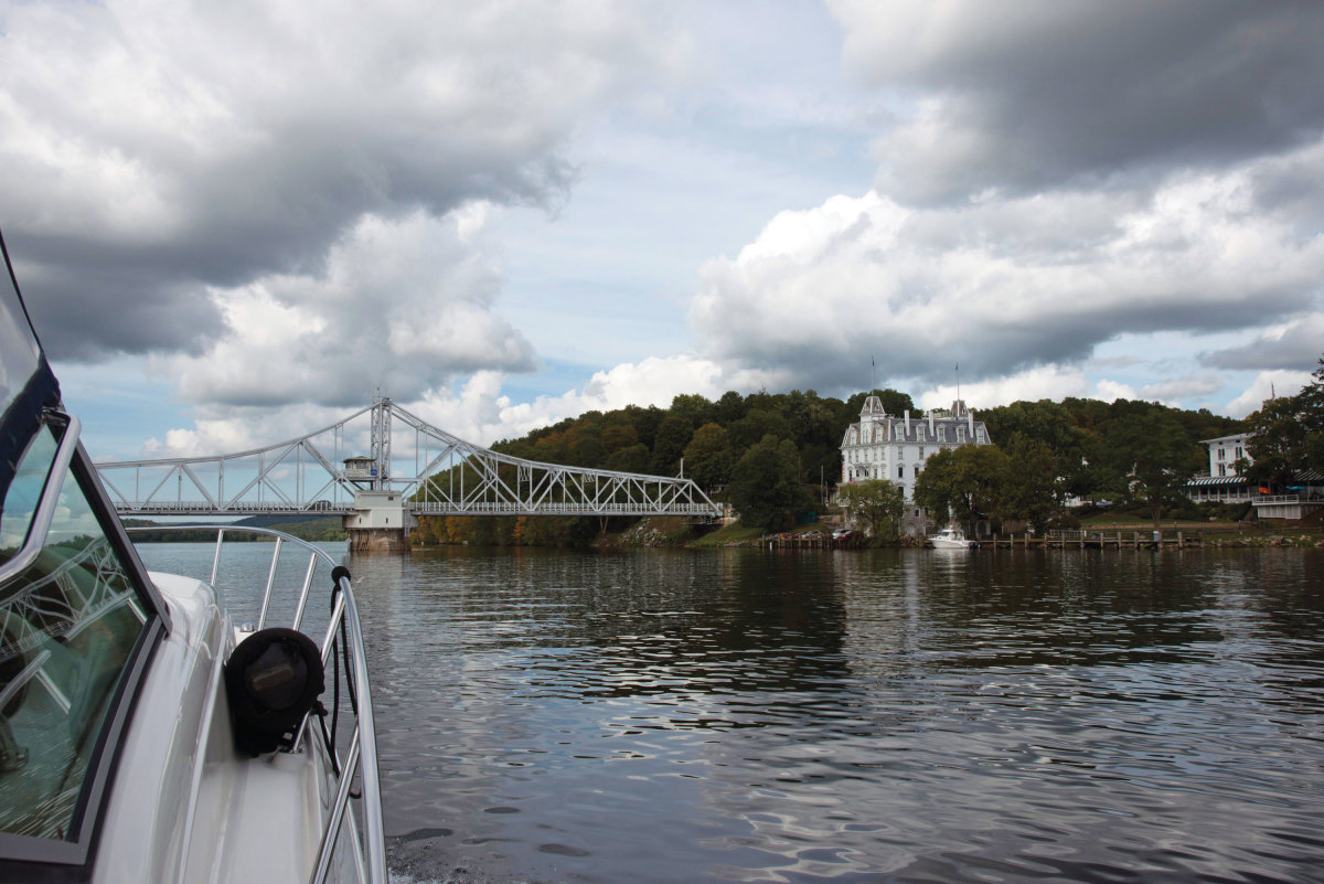 The historic swing bridge that connects Haddam and East Haddam opened in 1913.