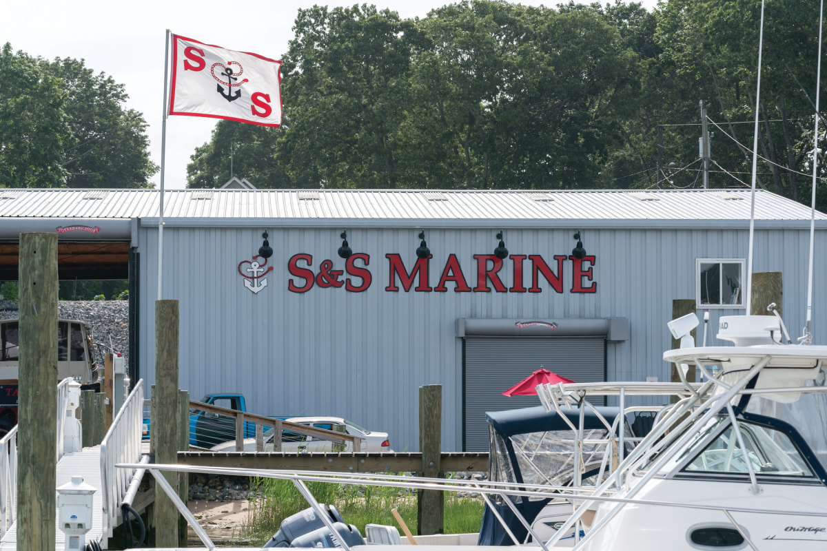 "S&S Marine in Old Saybrook added eight transient slips and improved shoreside amenities with its BIG grants. ""We've made it nicer to maybe spend the night, use our services and enjoy what the area has to offer,"" says Scott Sundholm, who started S&S Marine as a boat detailer some 20 years ago."