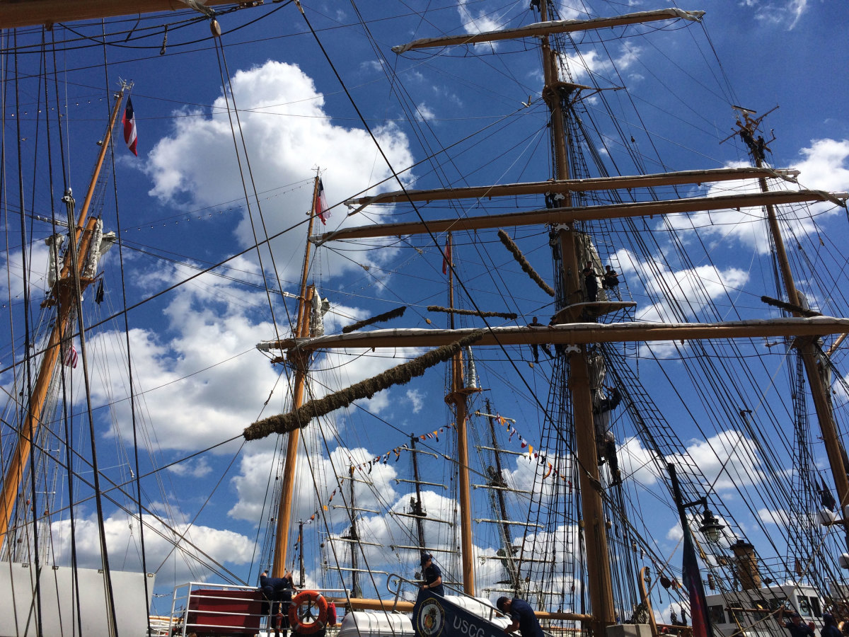 Tall ship masts at Norfolk Harborfest Photo