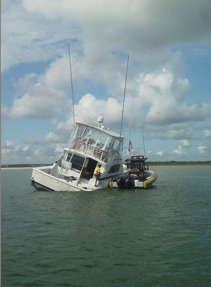 Photo of grounded boat
