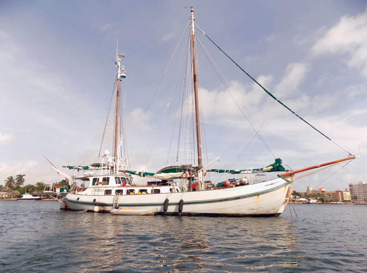 Thunderbird V is a 97-foot steel ketch that  was donated to the International Rescue  Group. It ferried supplies to Haiti after last year's devastating hurricane.