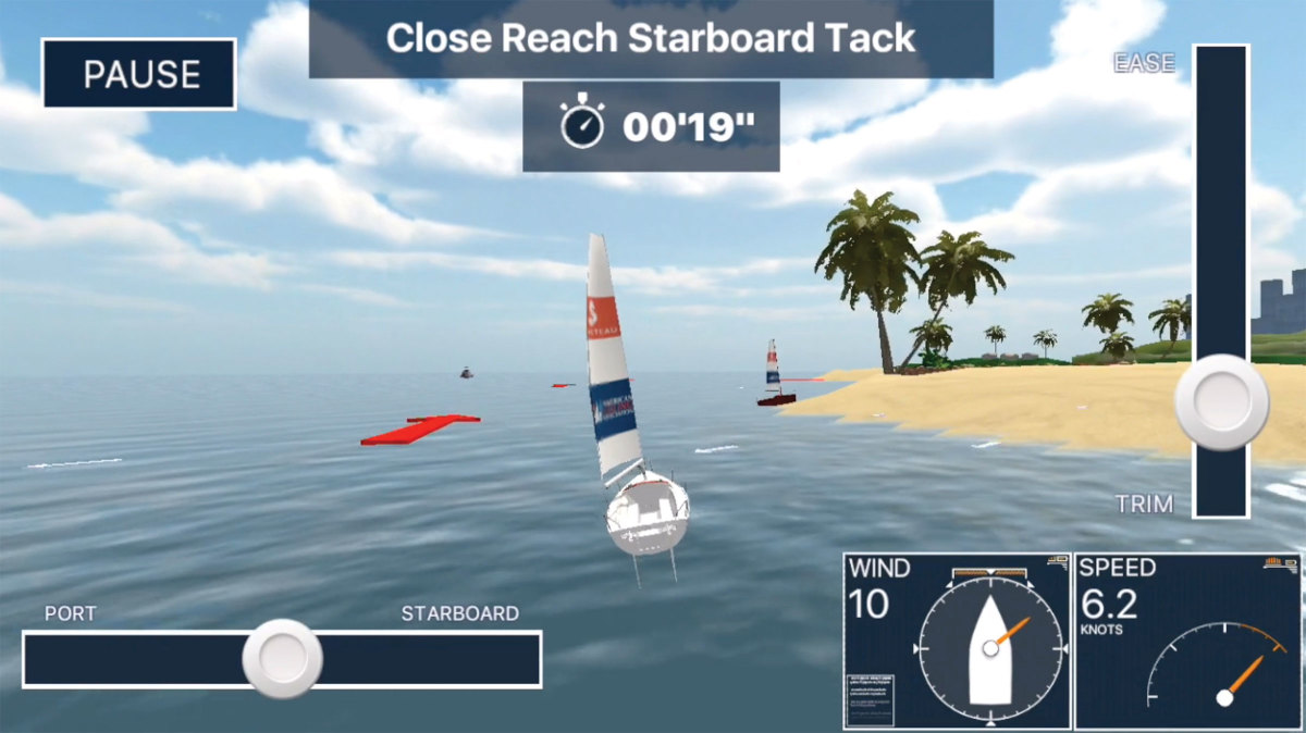 Sailing Challenge Game screen
