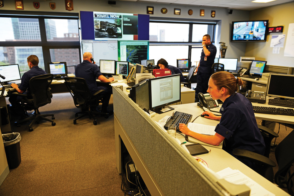 Photo of the 1st Coast Guard District Command Center