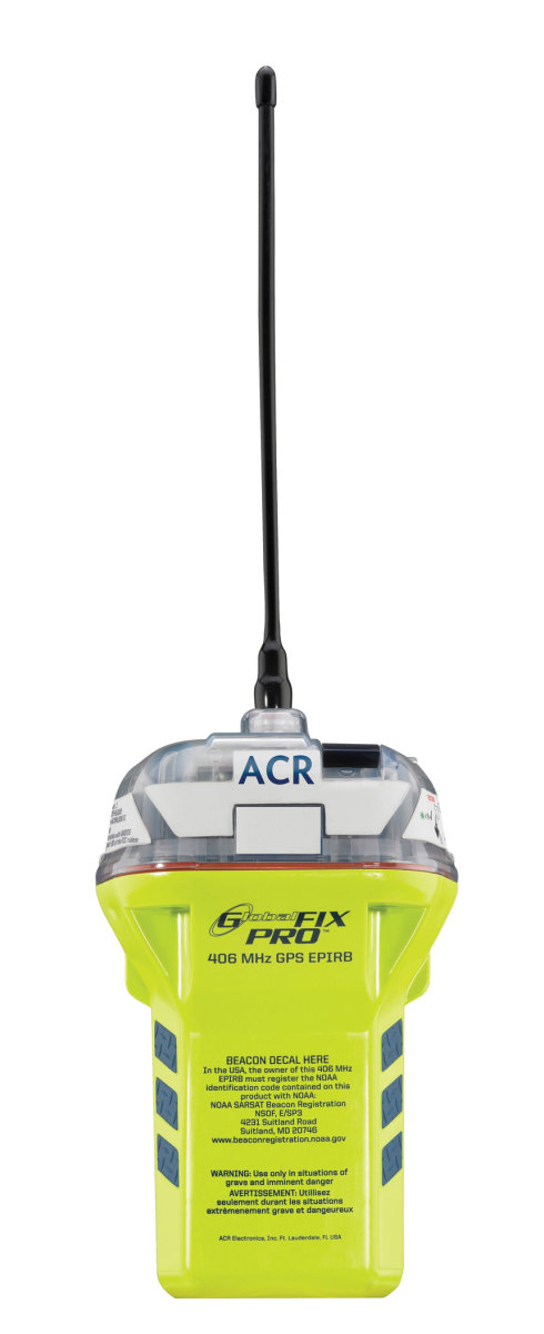 A GPS-enabled EPIRB, such as ACR's GlobalFix Pro can significantly reduce search time.