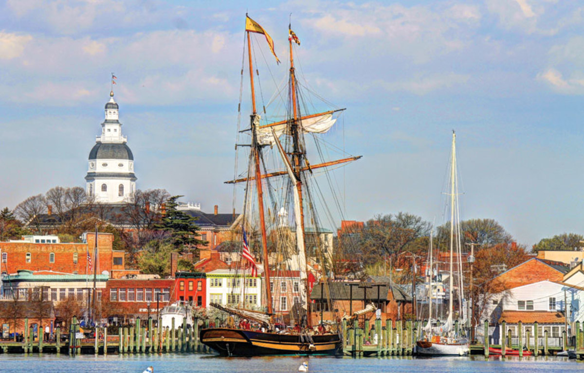 Pride of Baltimore II during a visit to Annapolis, Maryland.