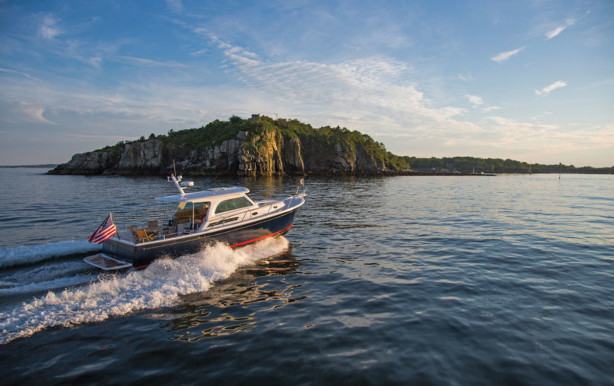The Back Cove Downeast 37 looks at home off Maine's coast.
