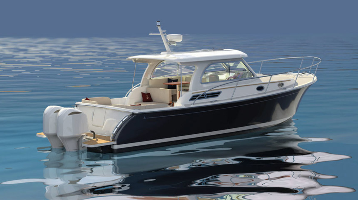 The Back Cove's 34O will be the company's first outboard design.