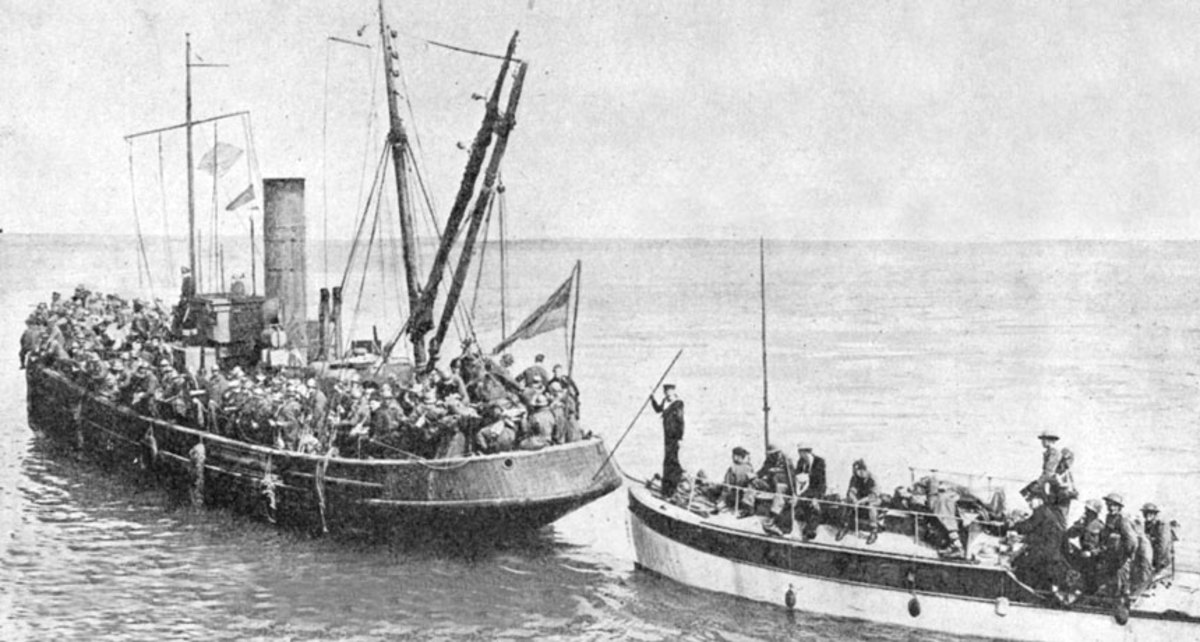 Two Dunkirk Little Ships transport troops back to England during Operation Dynamo in 1940.