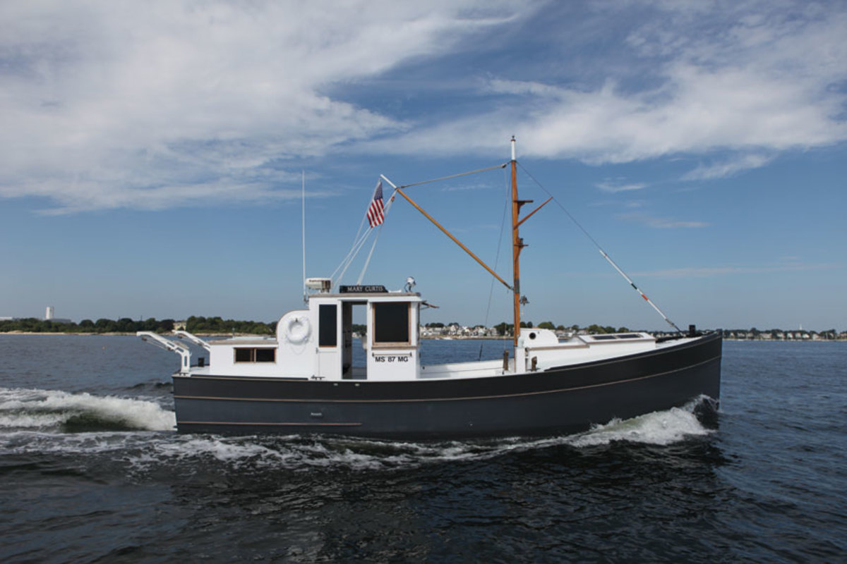 Mark Grady's 1965 Penbo trawler, Mary Curtis, won the Best Powerboat award.