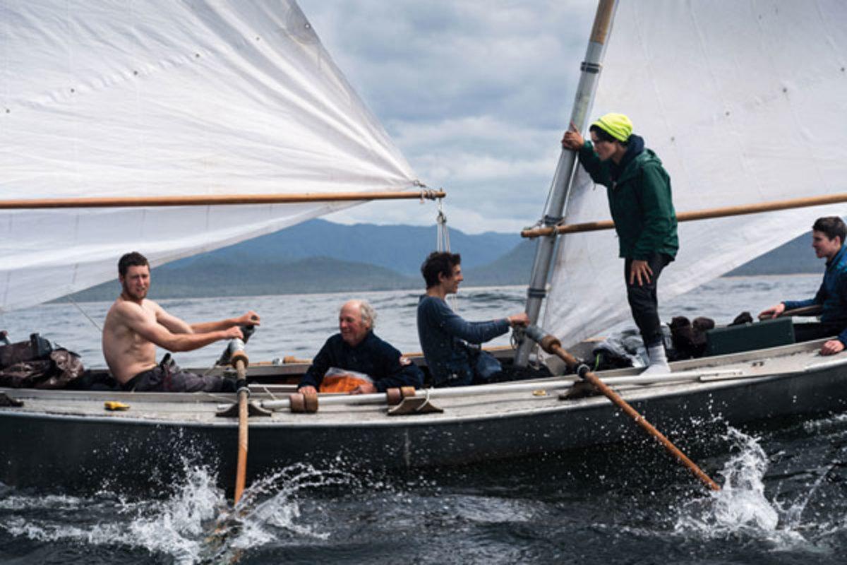 Team North to Alaska raced in a handmade, 25-foot sharpie named Johnny Horton.