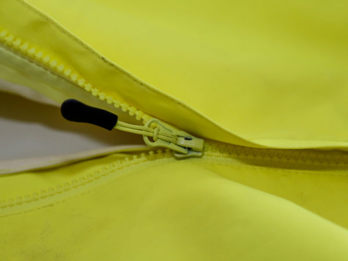 Lubricate zippers regularly with Zipper-Ease to ensure life jackets are easy to put on in an emergency.