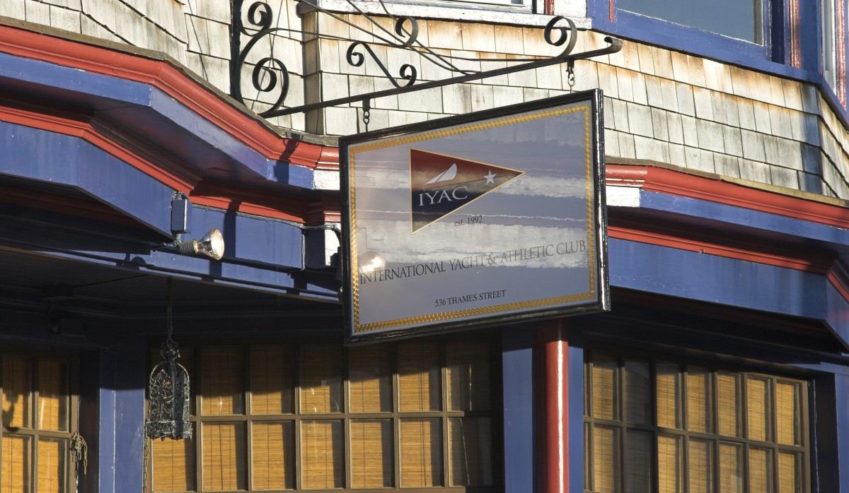 The International Yacht and Athletic Club is an entertaining spot to grab a drink in Newport.