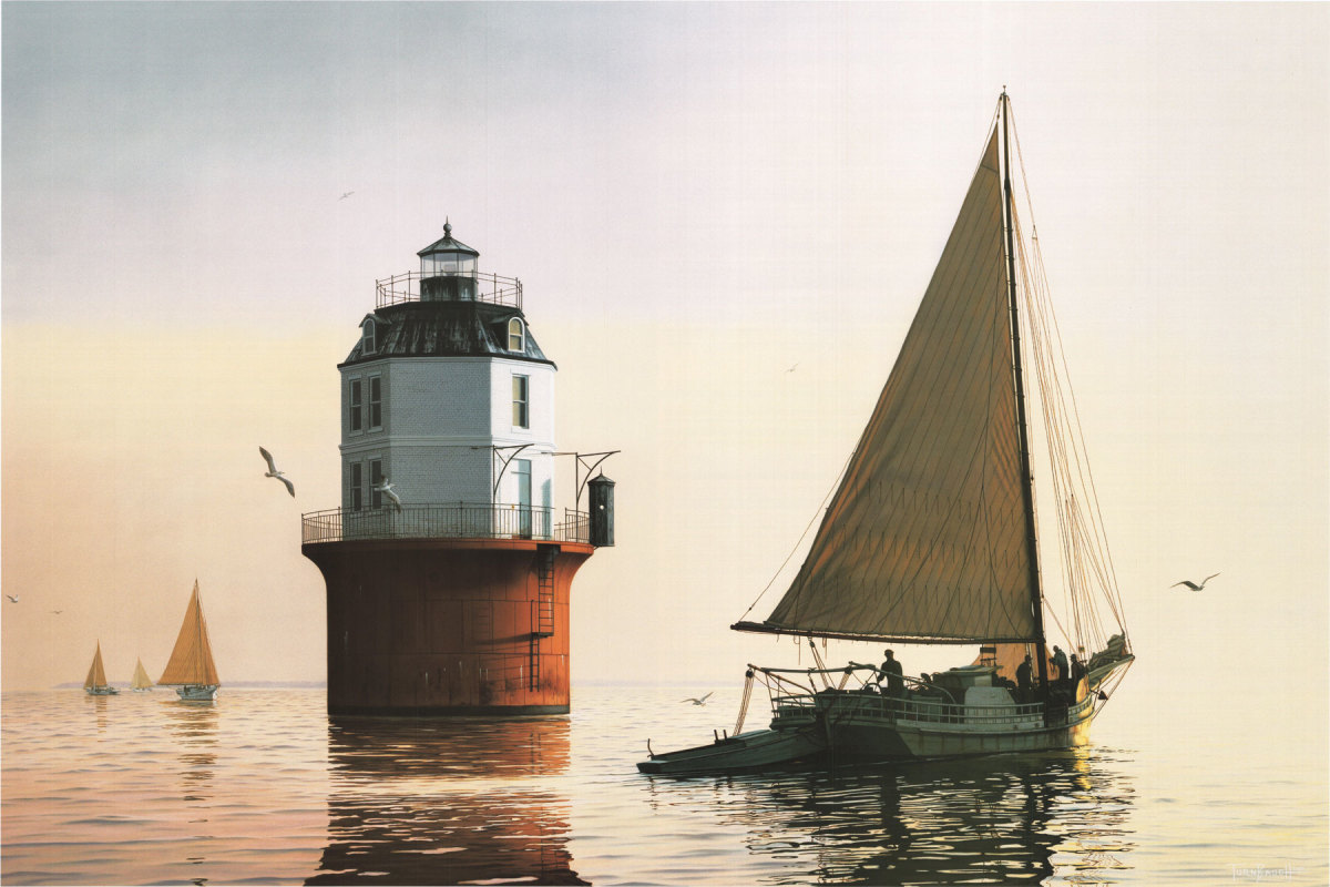H.M. Krentz, Sunrise Rendezvous at Baltimore Light Painting