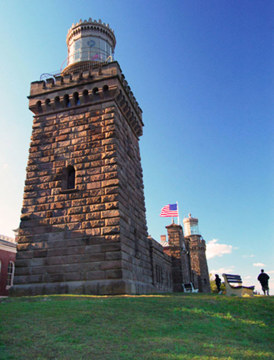 The Navesink Twin Lights were the first American lighthouses to test a Fresnel Lens and to be powered by electricity.