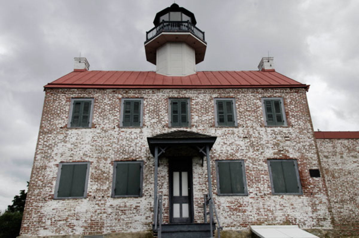 At the mouth of the Maurice River, East Point Light was built in 1849.