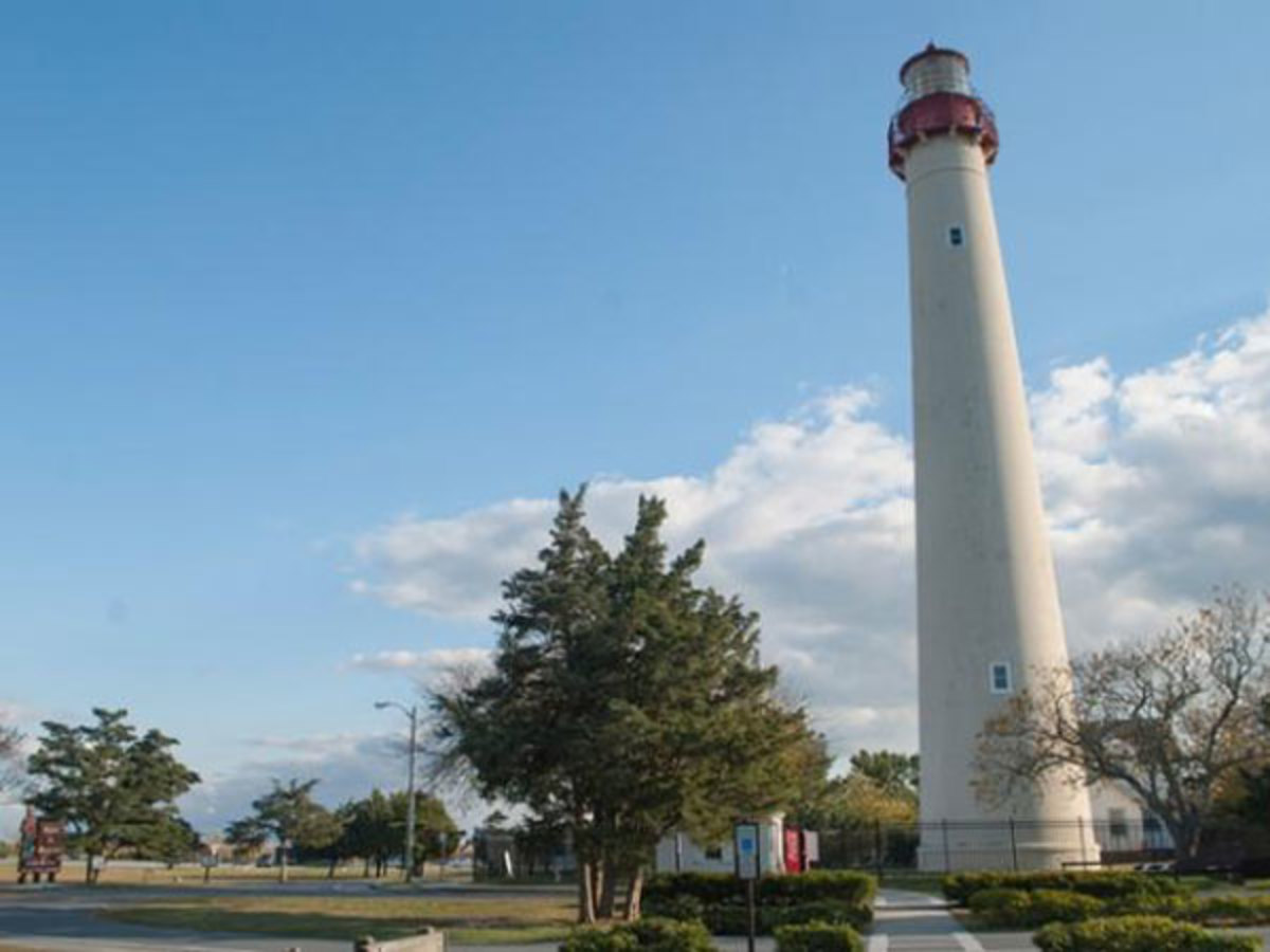 The third tower to stand at Cape May Point, the current lighthouse was built in 1859.
