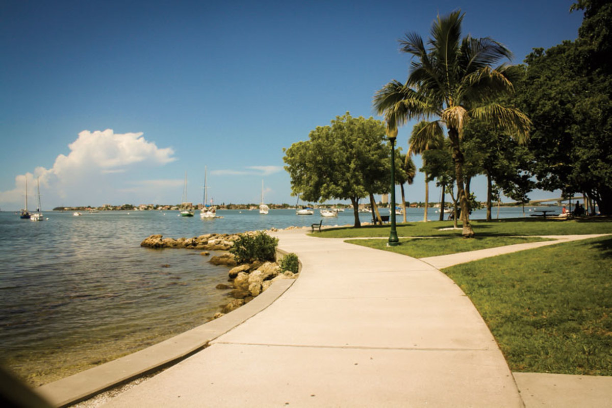 Stretch your legs with a walk around Bayfront Park.