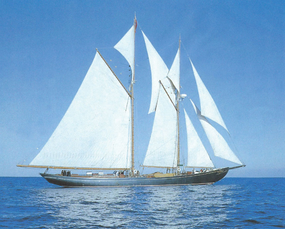 The writer sailed aboard Bluenose II in the Caribbean and off Nova Scotia.