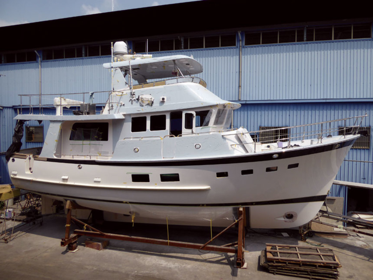 Larry Polster's 50 Open, hull No. 1, will be shipped to the United States in a few weeks.