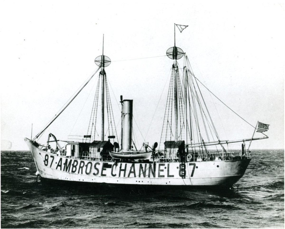 Countless immigrants saw the lightship Ambrose on the approach to New York.