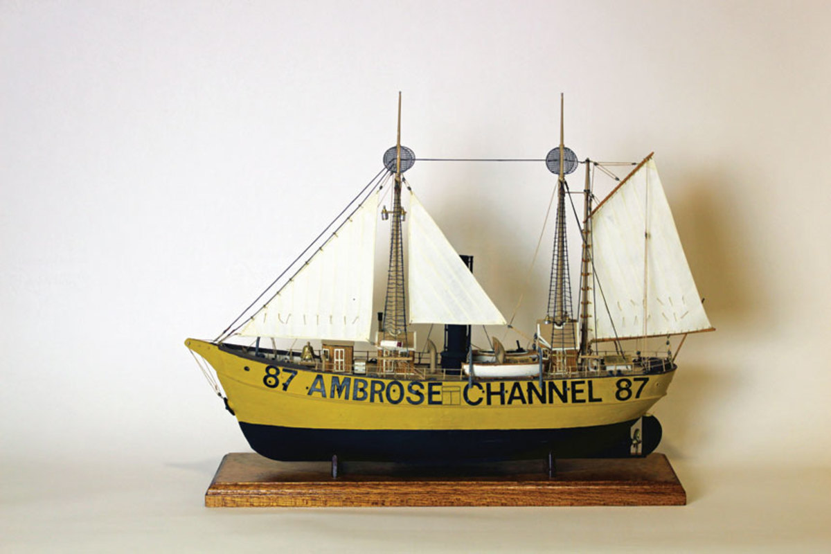 A scale model in the museum's  collection shows the Ambrosein her original color scheme.