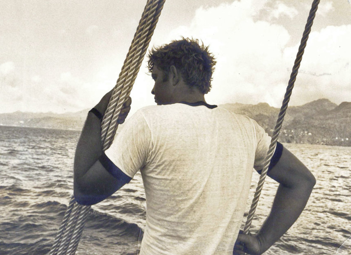 """As a young man, the author followed his heart """"to sail across oceans in search       of adventure."""