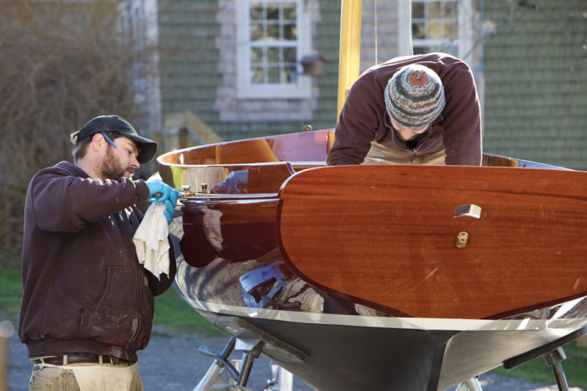 Artisan Boatworks specializes in restoring classic yachts and building replicas.