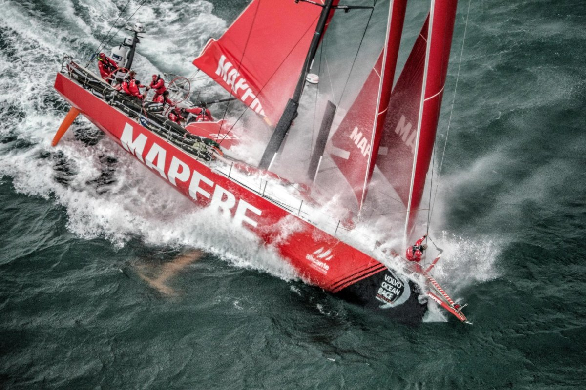 Team MAPFRE pushes their Volvo Ocean 65 to the limits.
