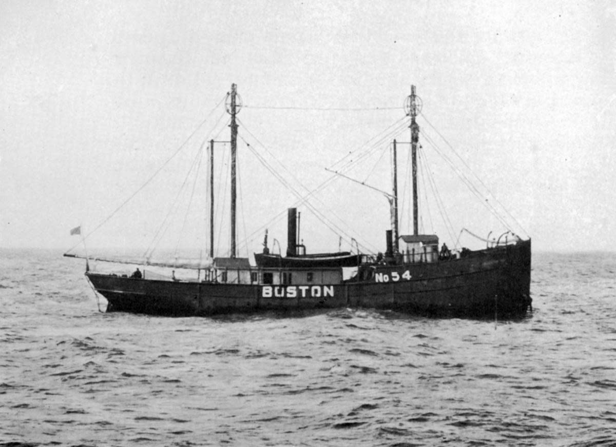 Lightships like Boston were anchored in places where lighthouse construction wasn't feasible.