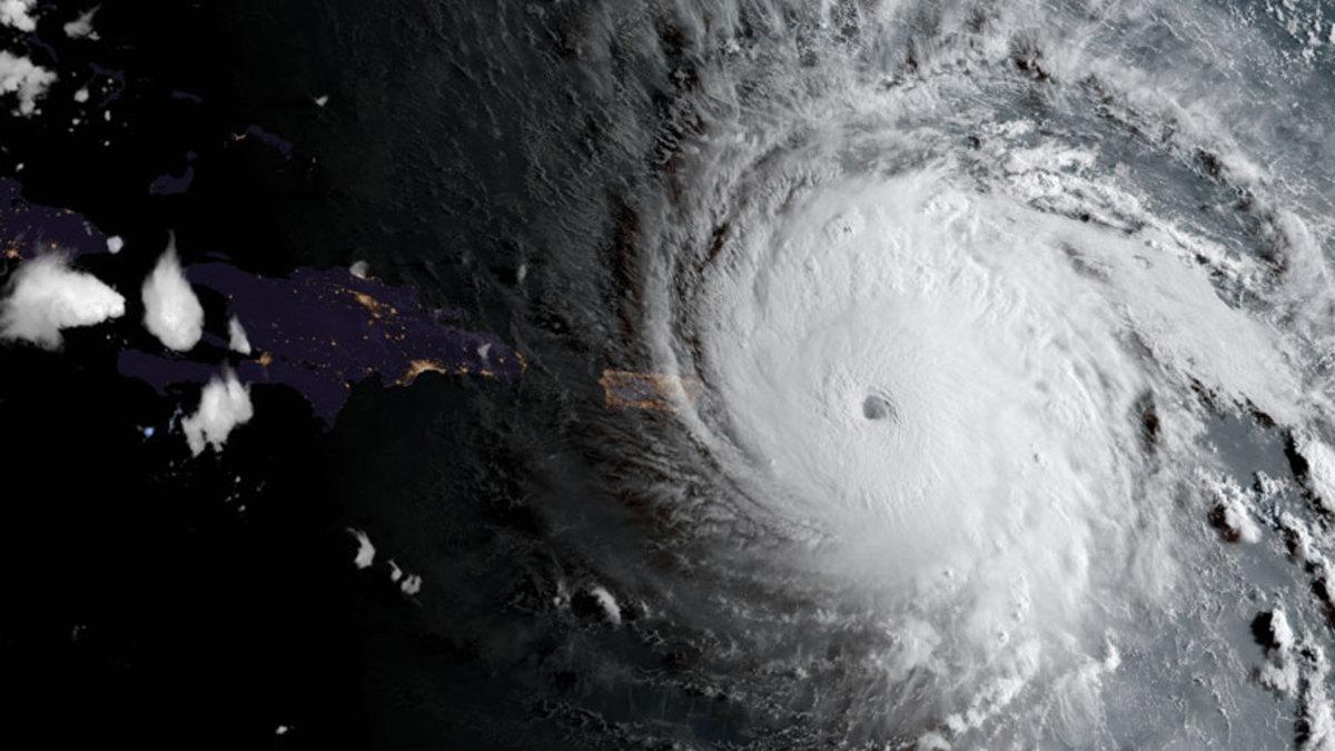 Hurricane Irma approaches Anguilla on its way to raking the BVI.