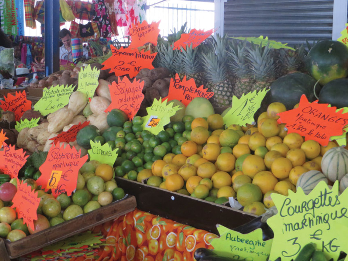 Martinique's fresh produce is among the world's best.