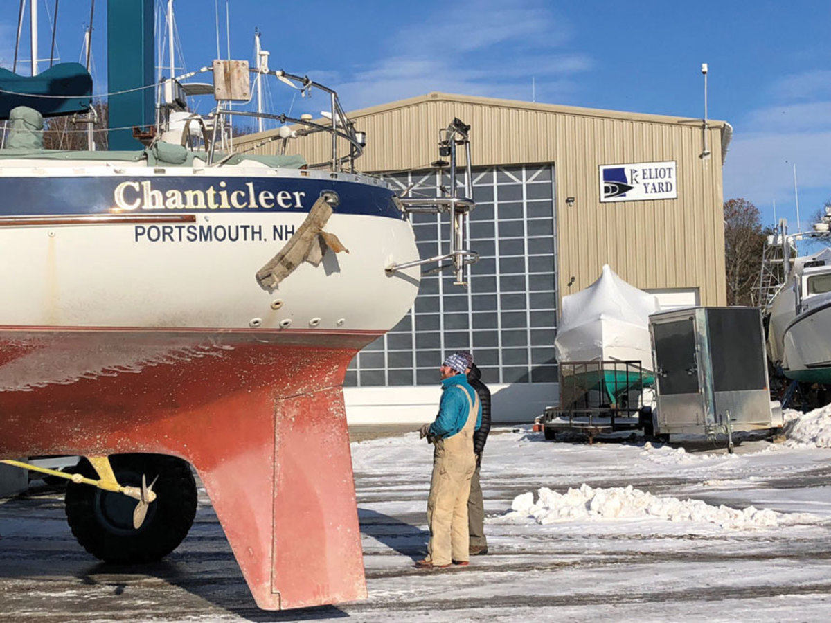 HOME AT LAST: 100 days after the hurricane and time to begin Chanticleer's refit.