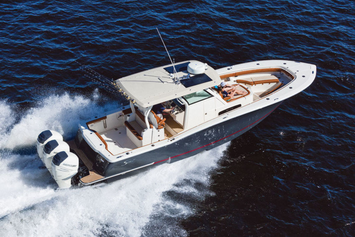 The Scout 355 LXF is just one new boat you can see at the Miami International Boat Show.