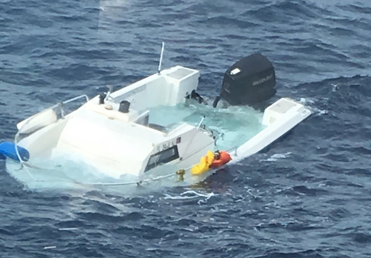 Samuel Moss, Jr., and his 21-foot walkaround were found 10 miles off West Palm Beach, Florida, after drifting for 16 days at sea.